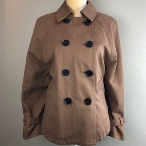 Gap Tan Cropped Peacoat Medium